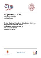 Int. összefoglaló Allapot – 2016